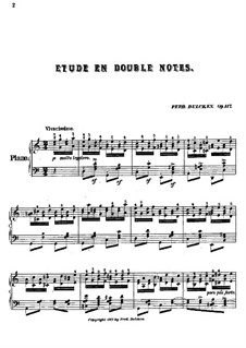 Etude in Double Notes, Op.117: Etude in Double Notes by Ferdinand Dulcken