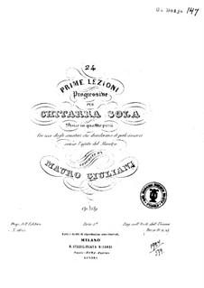 Ventiquattro Prime Lezioni, Op.139: Ventiquattro Prime Lezioni by Mauro Giuliani