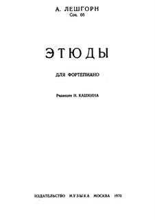 Etudes, Op.66: Etudes by Carl Albert Loeschhorn