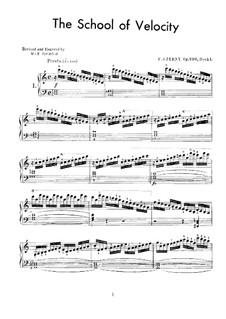 School of Velocity, Op.299: Complete set by Carl Czerny