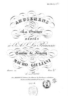 Amusements, Op.10: For guitar by Mauro Giuliani