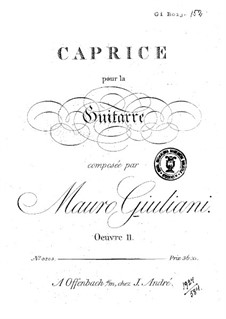 Caprice in C Major, Op.11: For guitar by Mauro Giuliani