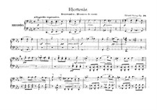 Two Elegiac Melodies, Op.34: No.1 Hjertesår, for Piano Four Hands by Edvard Grieg