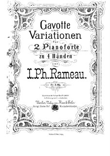 Gavotte and Variations: For two pianos four hands by Jean-Philippe Rameau
