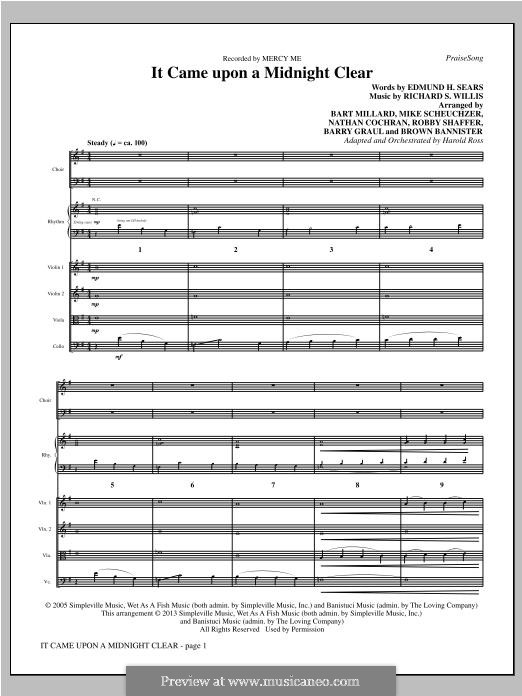 It Came upon the Midnight Clear: Full Score by Richard Storrs Willis