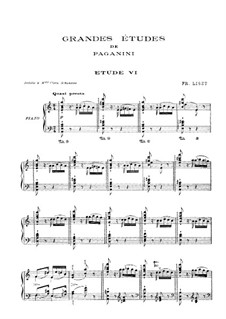 Grand Etudes de Paganini, S.141: No.6 in A Minor by Franz Liszt