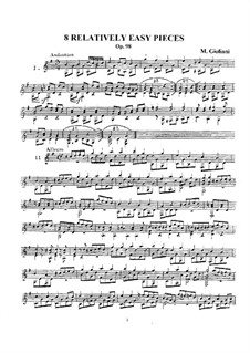 Eight Relatively Easy Pieces, Op.98: Eight Relatively Easy Pieces by Mauro Giuliani