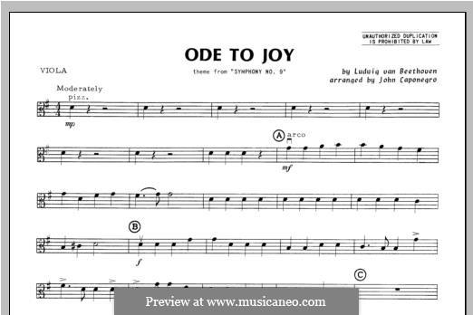 Ode To Joy (Chamber Arrangements): For orchestra – viola part by Ludwig van Beethoven