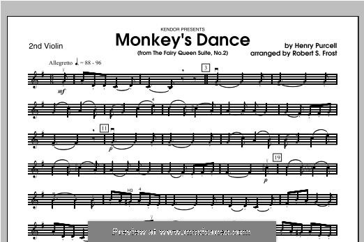 The Fairy Queen, Z.629: Monkey's Dance, for strings – Violin 2 part by Henry Purcell