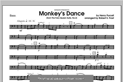 The Fairy Queen, Z.629: Monkey's Dance, for strings – Bass part by Henry Purcell