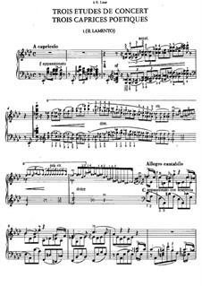 Three Concert Etudes, S.144: No.1 The Lament by Franz Liszt