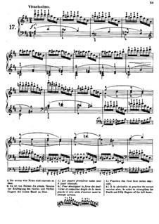 Tausig Edition: Etude No.17 by Muzio Clementi