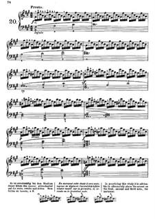 Tausig Edition: Etude No.20 by Muzio Clementi