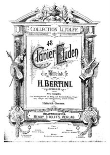 Forty-Eight Etudes, Op.29, 32: Forty-Eight Etudes by Henri Jérôme Bertini