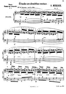 Grandes études pour piano en soixante caprices caractéristiques, Op.63: No.37 Etude in Double Notes by Amédée Méreaux