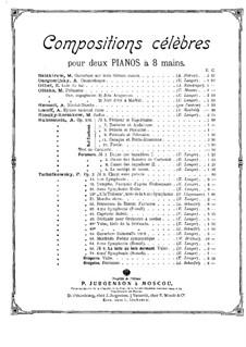 Bal costumé, Op.103: No.7 Toréador et Espagnole, for Two Pianos Eight Hands – Piano I Part by Anton Rubinstein