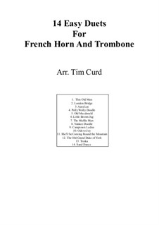 14 Easy Duets: For french horn and trombone by folklore