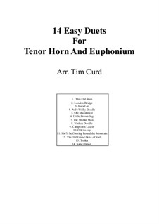14 Easy Duets: For tenor horn and euphonium by folklore