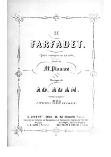 Le farfadet: For soloists and piano by Adolphe Adam