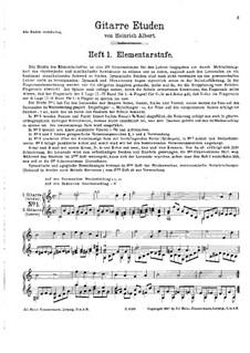 Twelve Easy Etudes for Two Guitars: Twelve Easy Etudes for Two Guitars by Heinrich Albert