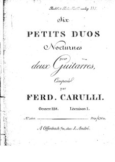 Six Little Duets for Two Guitars, Op.128: Complete set by Ferdinando Carulli