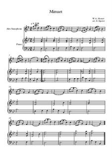 10 Easy Classical Pieces For Alto Saxophone & Piano Vol.5: Minuet (In F Major) by Wolfgang Amadeus Mozart, Franz Schubert, Antonín Dvořák, Georges Bizet, Georg Friedrich Händel, Giuseppe Verdi, Pyotr Tchaikovsky, Émile Waldteufel, Adolphe Adam, Sebastián Yradier