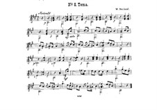 Duet 'Theme' for Two Guitars: Duet 'Theme' for Two Guitars by Wilhelm Neuland