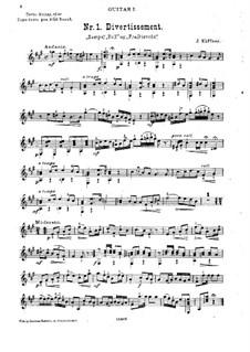 Divertissement for Two Guitars: Divertissement for Two Guitars by Joseph Küffner
