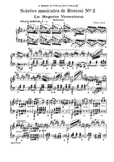 Transcriptions on Themes from 'Soirées musicales' by Rossini, S.424: No.2 Nocturne by Franz Liszt