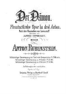 The Demon: Acts I-II, for voices and piano by Anton Rubinstein