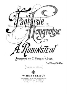 Fantasia on Hungarian Melodies: For two pianos four hands by Anton Rubinstein