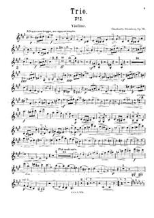 Piano Trio No.2 in F Sharp Minor, Op.79: Violin part by Constantin Sternberg