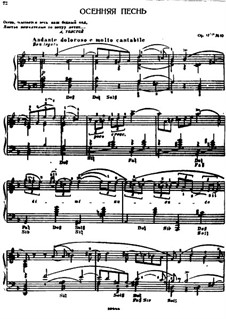 No.10 October (Autumn Song): For harp by Pyotr Tchaikovsky