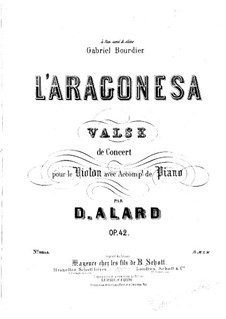 L'Aragonesa for Violin and Piano, Op.42: Solo part by Jean Delphin Alard