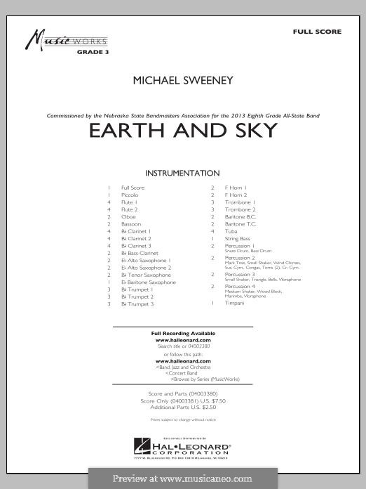 Earth and Sky: Full score by Michael Sweeney