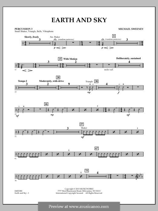 Earth and Sky: Percussion 3 part by Michael Sweeney