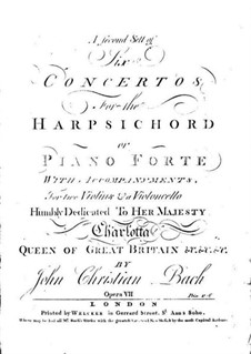 Six Concertos for Harpsichord (or Piano) and Strings, Op.7: All Concertos, W C55-60a by Johann Christian Bach
