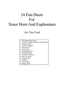 14 Fun Duets: For tenor horn and euphonium by folklore