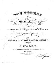 Potpourri for Two Guitars: Potpourri for Two Guitars by Johan Jakob Nagel