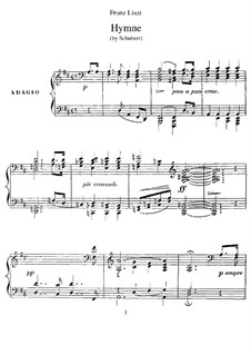 Transcriptions on Songs by Schubert, S.562: No.4 Hymn by Franz Liszt