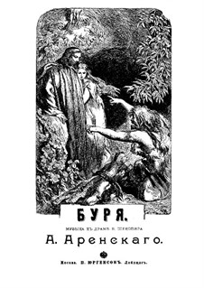 The Tempest, Op.75: Piano-vocal score by Anton Arensky
