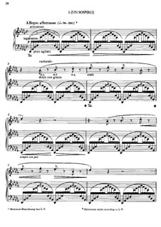 Three Concert Etudes, S.144: No.3 A Sigh by Franz Liszt