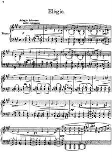 Three Pieces, Op.40: No.2 Elegy by Sergei Lyapunov