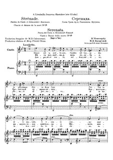 Songs and Dances of Death: No.2 Serenade by Modest Mussorgsky
