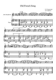10 Easy Classical Pieces For Alto Saxophone & Piano Vol.5: Old French Song by Wolfgang Amadeus Mozart, Franz Schubert, Antonín Dvořák, Georges Bizet, Georg Friedrich Händel, Giuseppe Verdi, Pyotr Tchaikovsky, Émile Waldteufel, Adolphe Adam, Sebastián Yradier