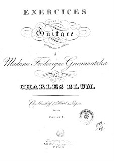 Exercises for Guitar: Book I by Carl Wilhelm August Blum