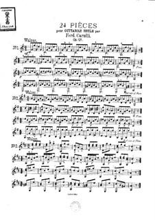 Twenty-Four Pieces, Op.121: Complete set by Ferdinando Carulli