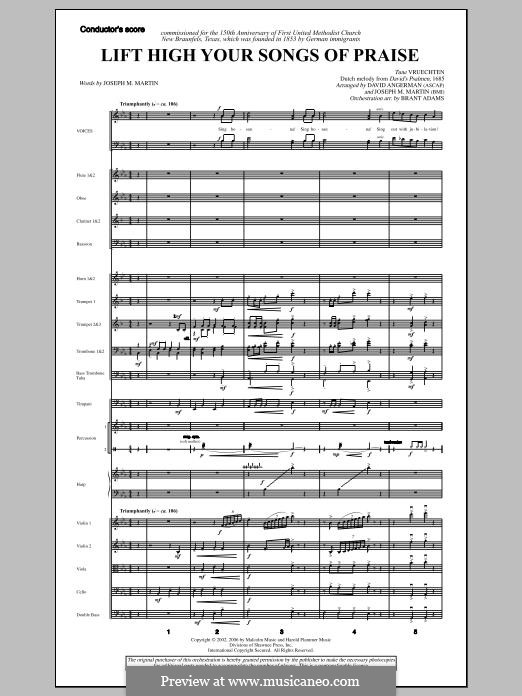 Lift High Your Songs of Praise (from Footprints in The Sand): Score by David Angerman, Joseph M. Martin