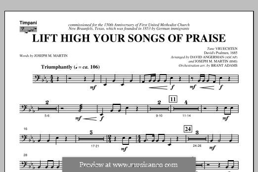Lift High Your Songs of Praise (from Footprints in The Sand): Timpani part by David Angerman, Joseph M. Martin