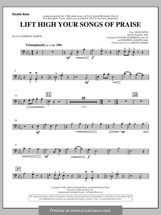 Lift High Your Songs of Praise (from Footprints in The Sand): Double Bass part by David Angerman, Joseph M. Martin